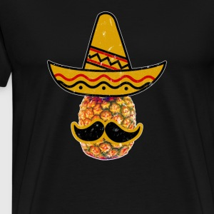 Cinco De Mayo Party Mustache pineappl Mexican Hat - Men's Premium T-Shirt