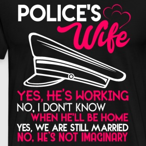 Proud To Be A Police's Wife T Shirt - Men's Premium T-Shirt