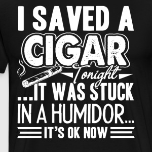 Cigar T Shirt - Men's Premium T-Shirt