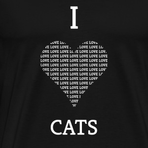I LOVE CATS GIFT - Men's Premium T-Shirt