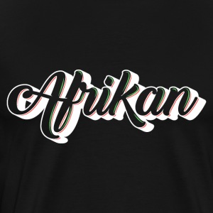 Cursive Afrikan White with no fill - Men's Premium T-Shirt