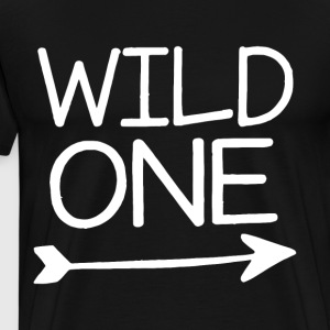 Baby Boys first bday outfit wild one shirt lumberj - Men's Premium T-Shirt