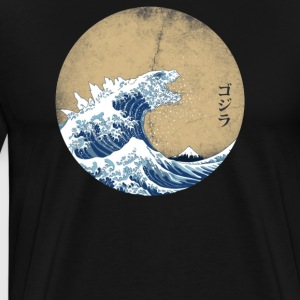 Hokusai Kaiju - Vintage version - Men's Premium T-Shirt