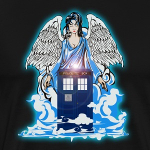 Angel has Blue Phone Booth - Men's Premium T-Shirt