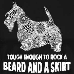 beard and a skirt - Men's Premium T-Shirt