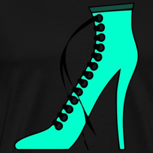 turquoise laced high heel boot - Men's Premium T-Shirt