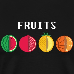 Basketball_fruits - Men's Premium T-Shirt
