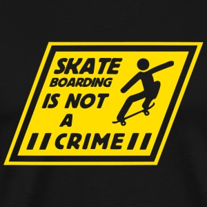 Skateboarding - Skateboarding Is Not A Crime - Men's Premium T-Shirt