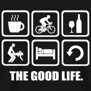 Cycling - Coffee Cycling Wine Sex Sleep Repeat T - Men's Premium T-Shirt