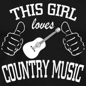 Country music - this girl loves country music - Men's Premium T-Shirt