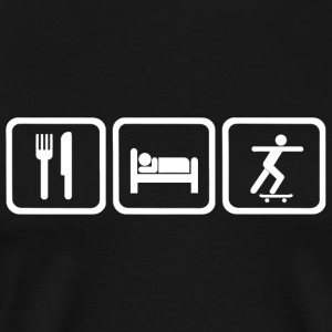 Skateboard - Funny Eat Sleep Skateboard Repeat - Men's Premium T-Shirt