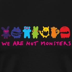 Monster - We Are Not Monsters Funny Shirt - Men's Premium T-Shirt