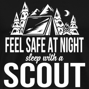 Scout - Feel safe at night sleep with a scout - Men's Premium T-Shirt