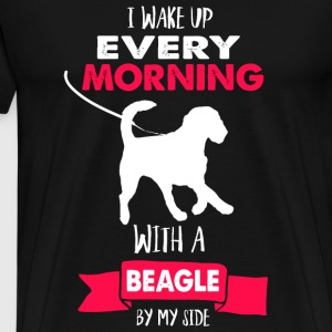 Beagle - I Wake Up Every Morning With A Beagle B - Men's Premium T-Shirt