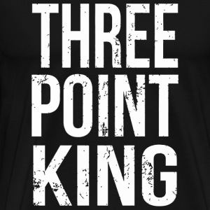 Basketball - Funny Three Point King Basketball - Men's Premium T-Shirt