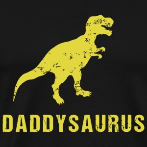 Saurus - Daddysaurus Funny Fathers Day Gift fro - Men's Premium T-Shirt