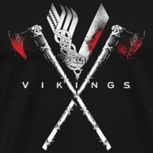 Vikings logo history channel T - shirt - Men's Premium T-Shirt