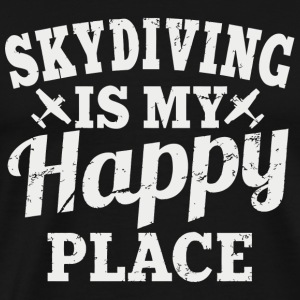 Skydiving Skydiving Is My Happy Place - Men's Premium T-Shirt