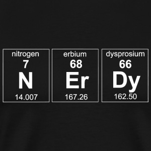 Nerdy - Nerdy. Periodic Table Elements - Men's Premium T-Shirt