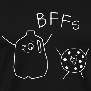Cookie - BFF's Chocolate Chip cookies and milk - Men's Premium T-Shirt