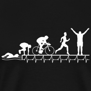 Triathlon - Triathlon Heartbeat Evolution - Men's Premium T-Shirt