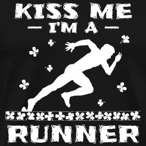 Runner - Kiss Me Im A Runner Shirt - Men's Premium T-Shirt