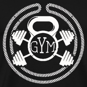 Barbell – Gym & fitness - Men's Premium T-Shirt