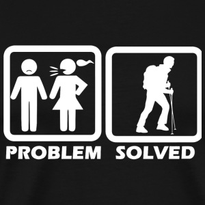 Hiking - Hiking Solved My Problem - Men's Premium T-Shirt
