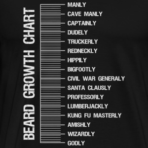 Beard - Beard growth length measurement chart - Men's Premium T-Shirt