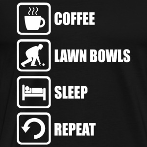 Lawn Bowl - Lawn Bowls Funny Coffee Sleep - Men's Premium T-Shirt