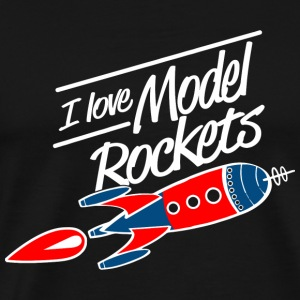 Rocket - i love model rockets - Men's Premium T-Shirt