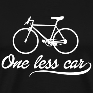 Bicycle - ONE LESS CAR - Men's Premium T-Shirt