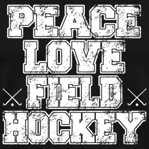 Hockey - peace love field hockey - Men's Premium T-Shirt