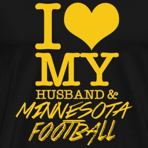 Minnesota - I Love My Husband & Minnesota Footba - Men's Premium T-Shirt