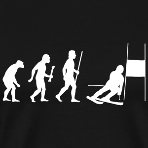 Skiing - Funny Slalom Skiing Evolution Shirt - Men's Premium T-Shirt