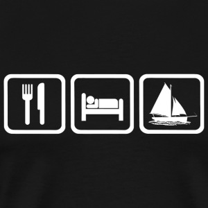 Sailing - Funny Eat Sleep Sailing Repea - Men's Premium T-Shirt