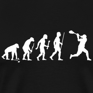 Lacrosse - Evolution of Man and Lacrosse Funny S - Men's Premium T-Shirt