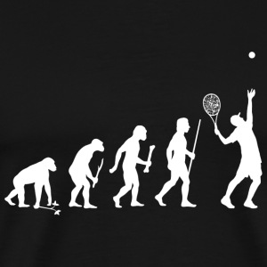 Tennis - Evolution of Man and Tennis - Men's Premium T-Shirt
