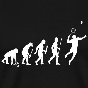 Badminton - Evolution of Man and Badminton - Men's Premium T-Shirt