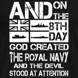 Navy - and on the 8th day god created the royal - Men's Premium T-Shirt
