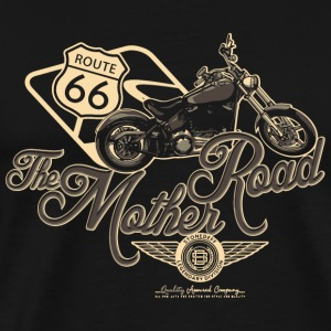 Motorcycle - Route 66 the mother road - Men's Premium T-Shirt