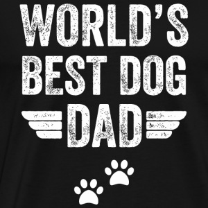 Dog World s best dog dad - Men's Premium T-Shirt