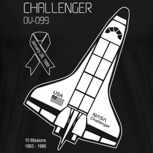 Space Shuttle Challenger - Space Shuttle Challen - Men's Premium T-Shirt
