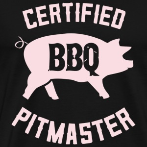 BBQ - BBQ Grill s Certified Barbecue Grilling Pi - Men's Premium T-Shirt