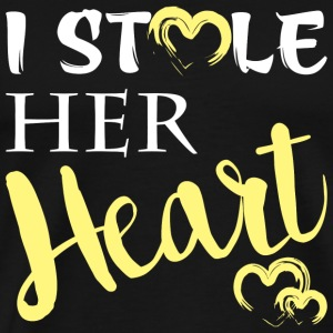 Wife - I Stole Her Heart I'm Stealing His Last N - Men's Premium T-Shirt