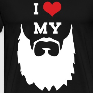Mustache - I Love My Mustache - Men's Premium T-Shirt