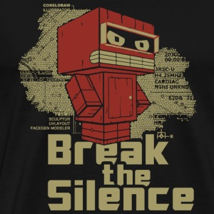 Robot - Break the Silence - Men's Premium T-Shirt