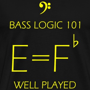 Bass - Bass Logic 101 -- E = F Flat - Men's Premium T-Shirt