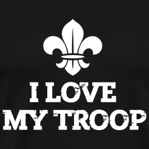 Scout - I love my troop - Men's Premium T-Shirt
