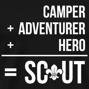Scout - Camper, Adventurer, Hero = Scout - Men's Premium T-Shirt